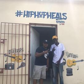 Clarens & Don at the #HipHopHeals Studio