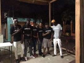 Don, Clarens, and The Street Boys after the grand opening of the studio (July 2017)